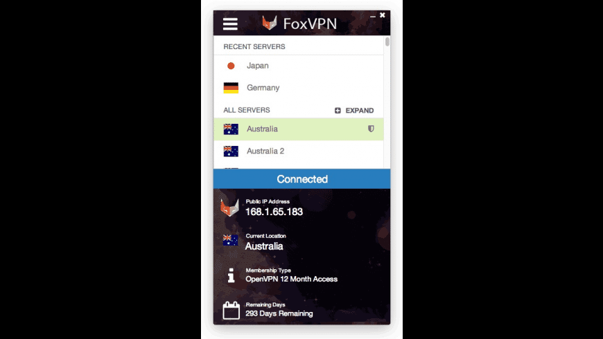 FoxVPN for Mac - review, screenshots