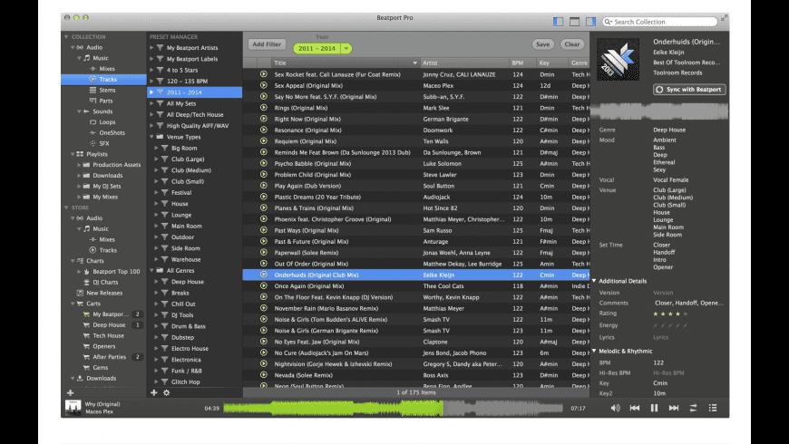 Beatport Pro for Mac - review, screenshots