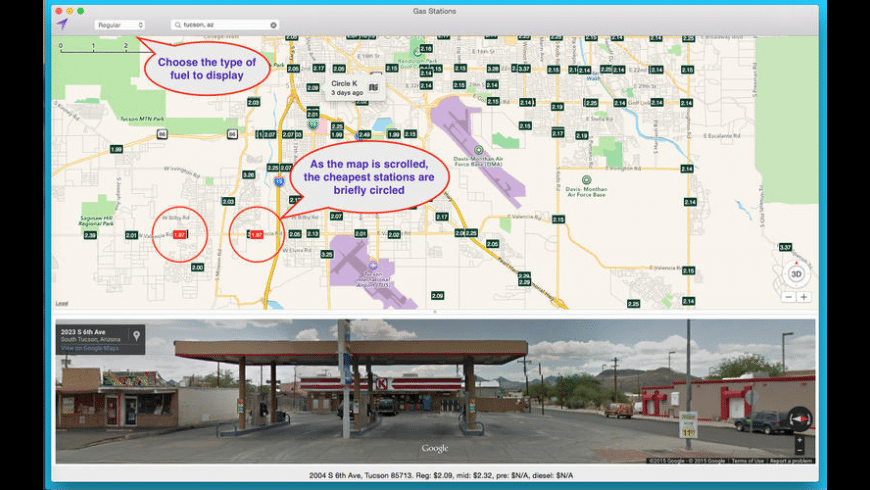 Gas Stations for Mac - review, screenshots