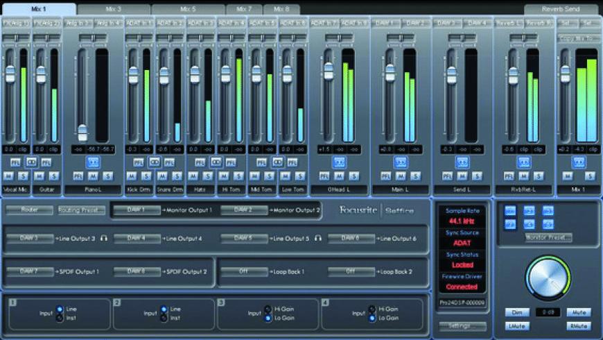 Saffire MixControl for Mac - review, screenshots