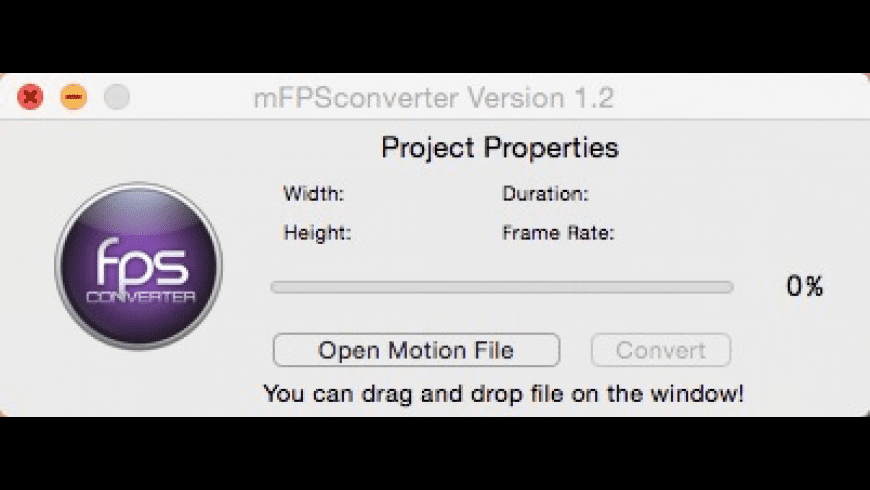 mFPSconverter for Mac - review, screenshots