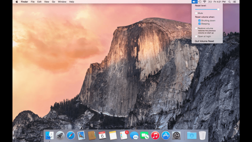 Volume Reset for Mac - review, screenshots