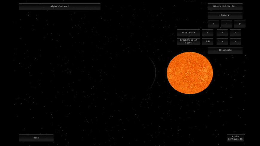 Astronomical Ipsilon Simulator for Mac - review, screenshots