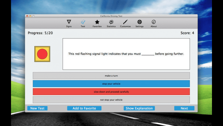 California Driving Test for Mac - review, screenshots