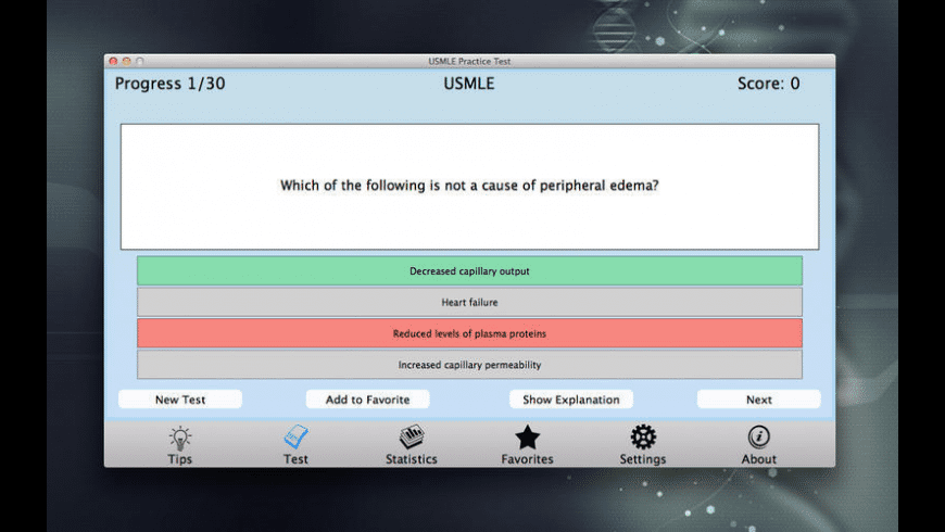 USMLE Practice Test for Mac - review, screenshots