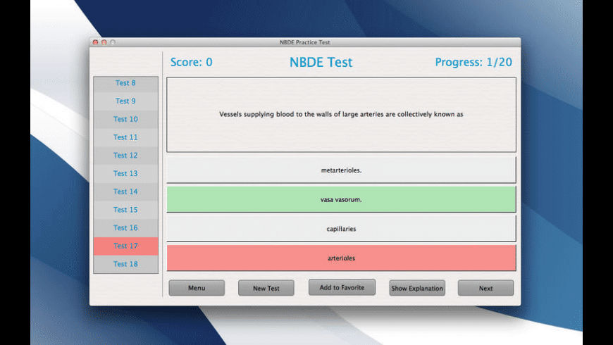 NBDE Practice Test for Mac - review, screenshots