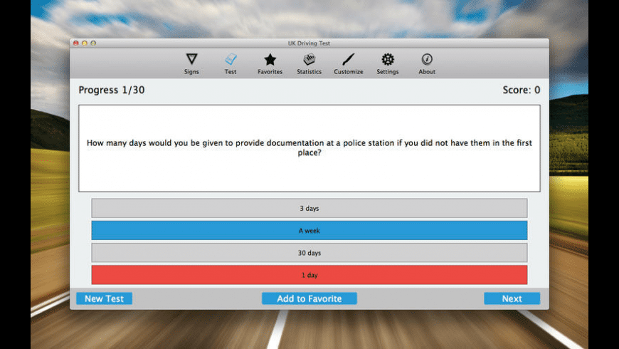 UK Driving Test for Mac - review, screenshots