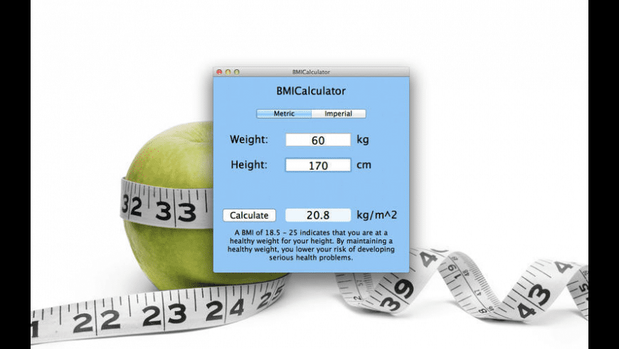 BMI-Calculator for Mac - review, screenshots
