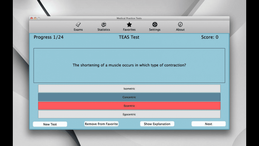 Medical Practice Tests for Mac - review, screenshots