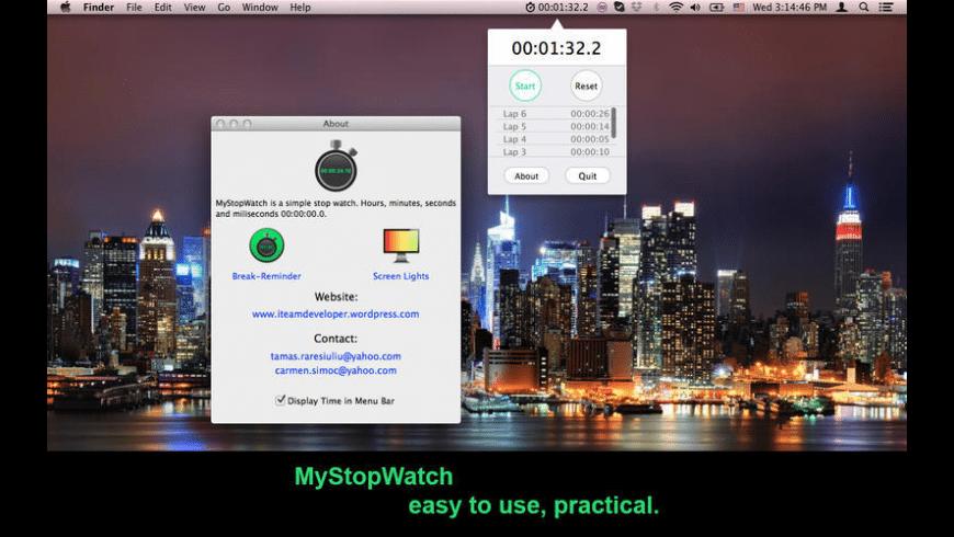 MyStopWatch for Mac - review, screenshots