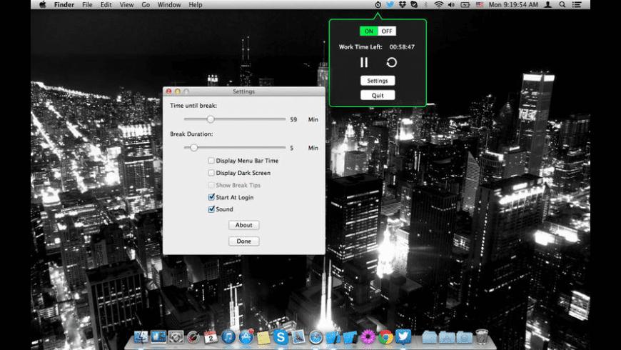 Break-Reminder for Mac - review, screenshots