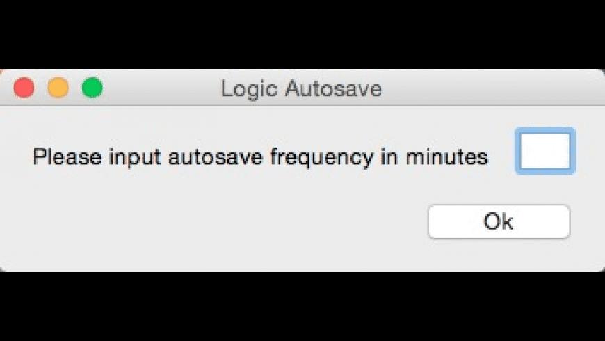 Logic Autosave for Mac - review, screenshots