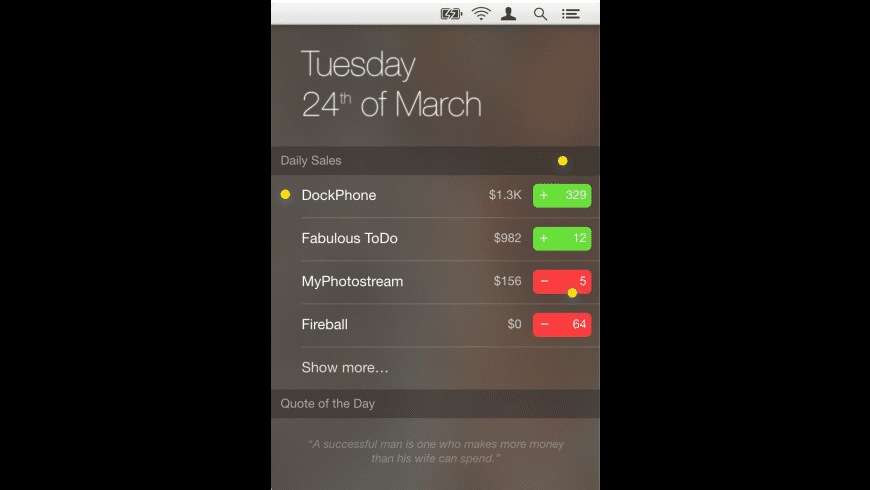 DailySales for Mac - review, screenshots
