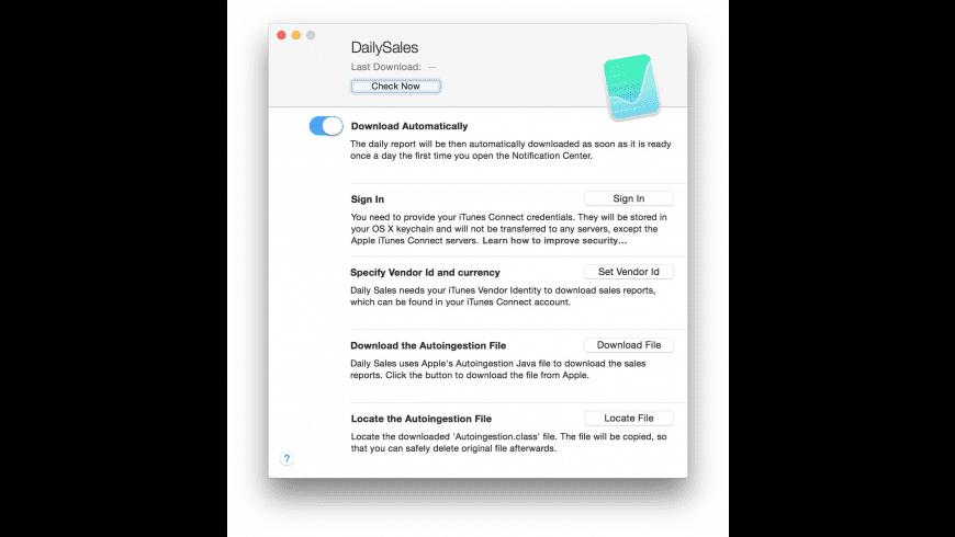 DailySales for Mac - review, screenshots