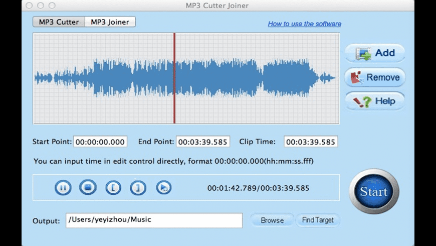 Free MP3 Cutter Joiner for Mac - review, screenshots