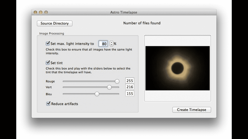 Astro Timelapse for Mac - review, screenshots