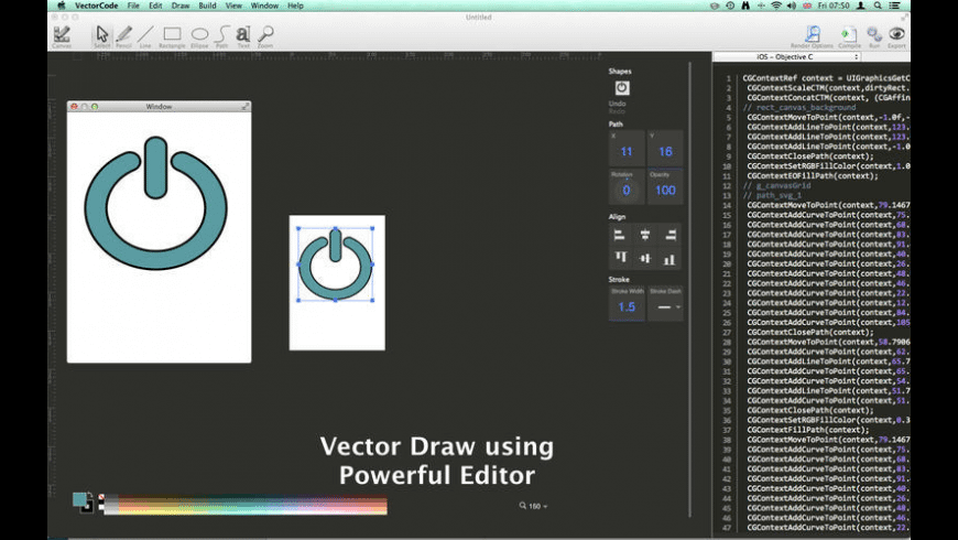 Vector Code for Mac - review, screenshots