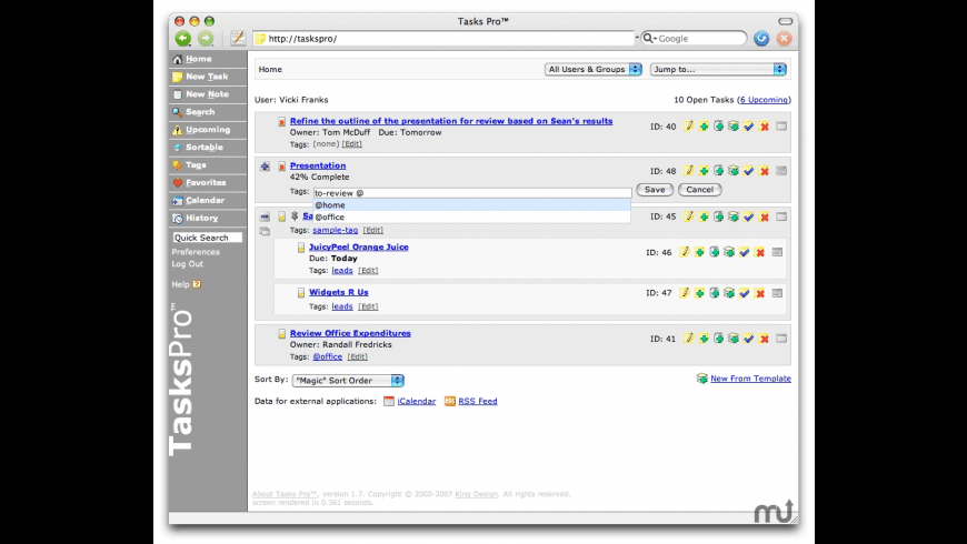 Tasks Pro for Mac - review, screenshots