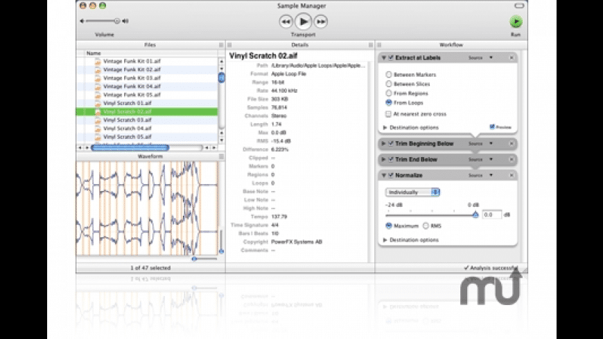Sample Manager for Mac - review, screenshots