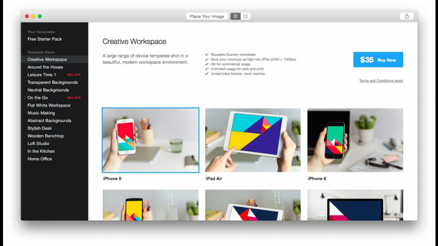 Scenery for Mac - review, screenshots