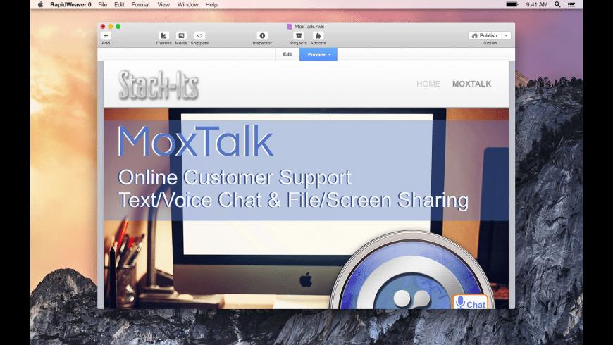 MoxTalk for Mac - review, screenshots