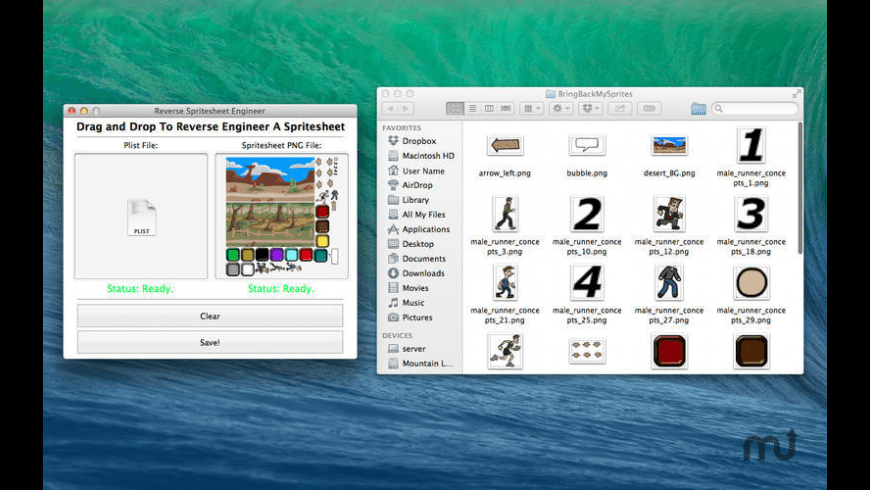 Reverse Engineer Spritesheets for Mac - review, screenshots