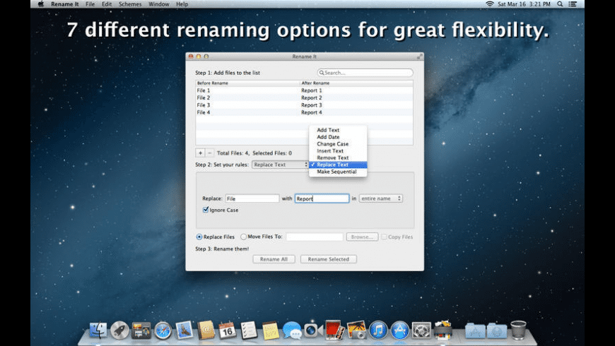 Rename It for Mac - review, screenshots