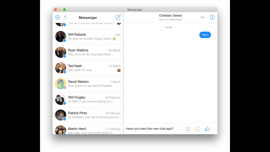 Chat for Mac - review, screenshots