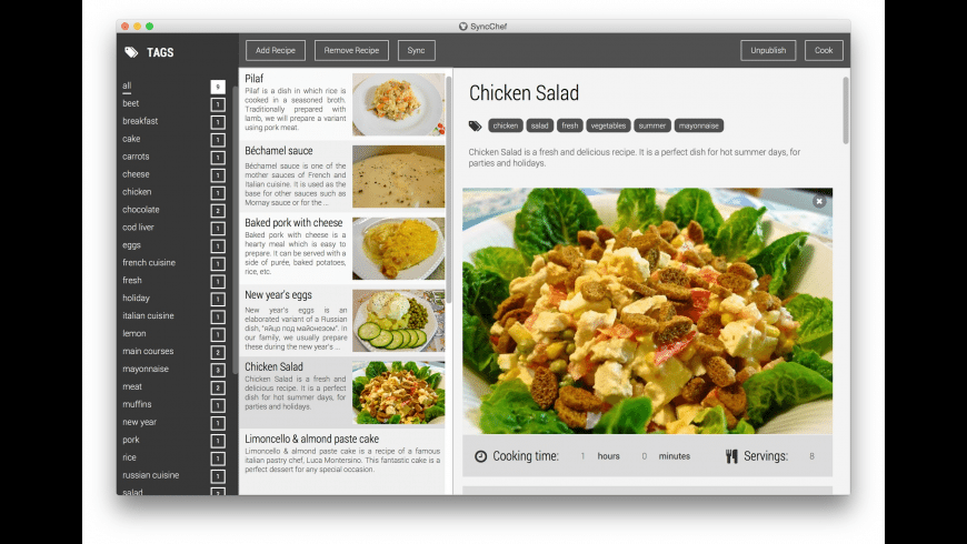 SyncChef for Mac - review, screenshots
