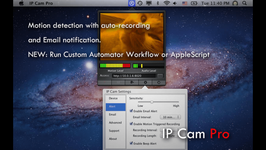 IP Cam Pro for Mac - review, screenshots