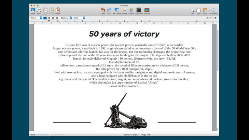 Word Writer for Mac - review, screenshots