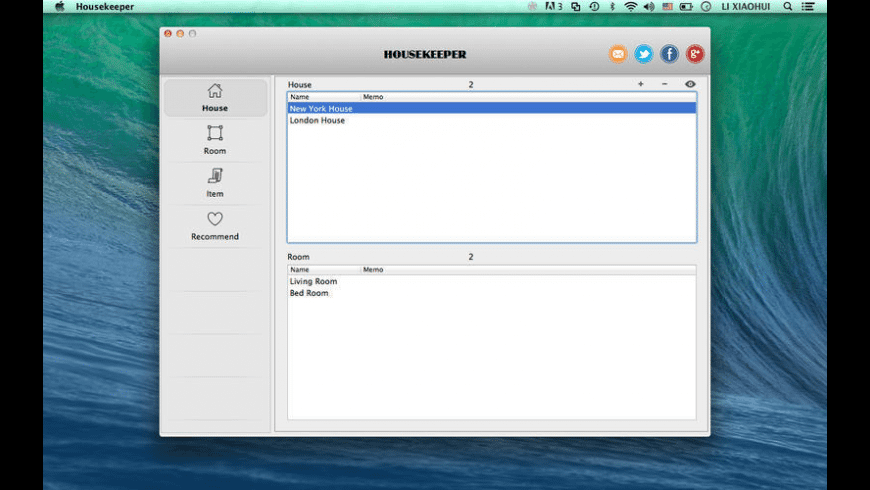 Housekeeper for Mac - review, screenshots