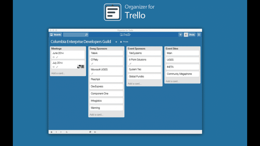App List for Trello for Mac - review, screenshots