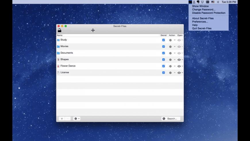 Secret-Files for Mac - review, screenshots