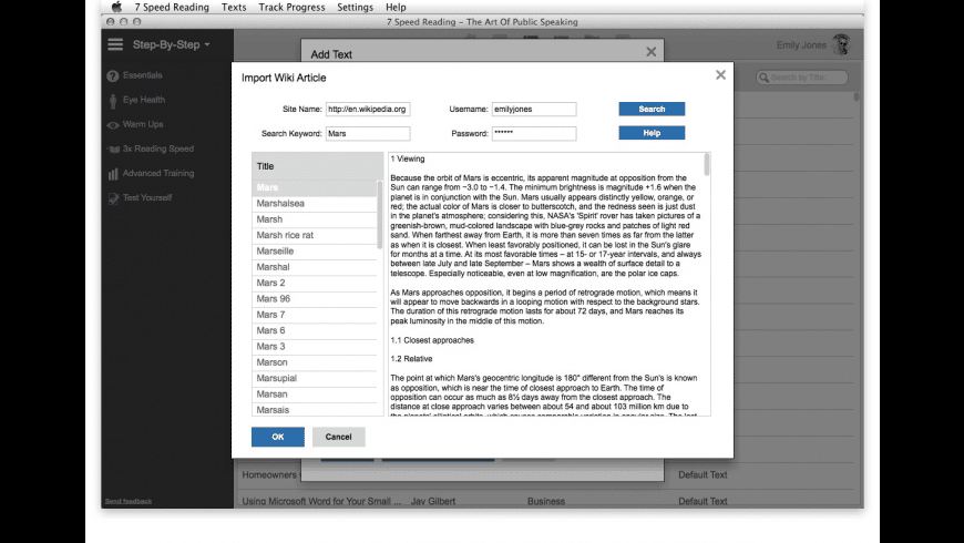 7 Speed Reading for Mac - review, screenshots