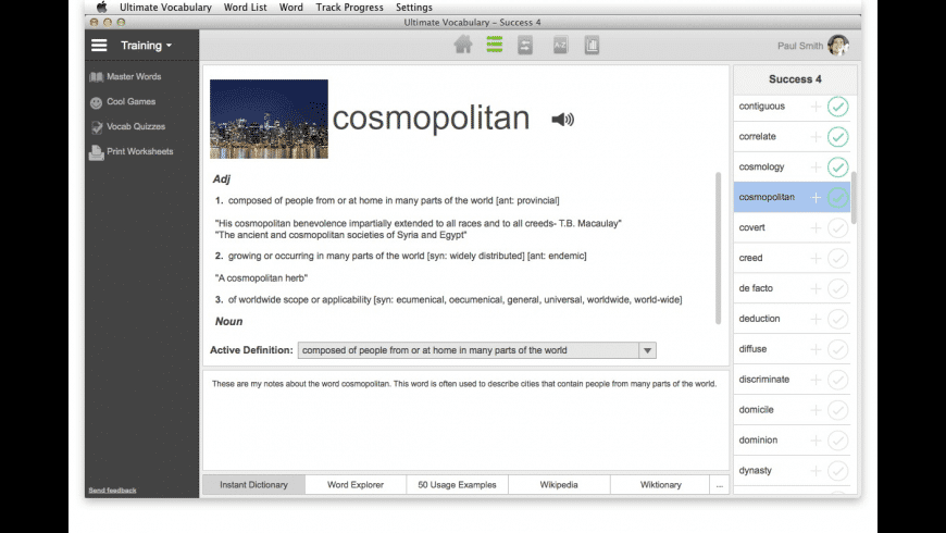 Ultimate Vocabulary for Mac - review, screenshots