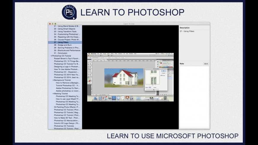 Learn To Use - Photoshop for Mac - review, screenshots
