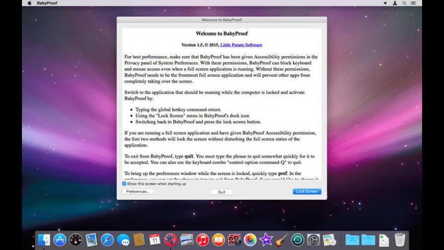 BabyProof for Mac - review, screenshots