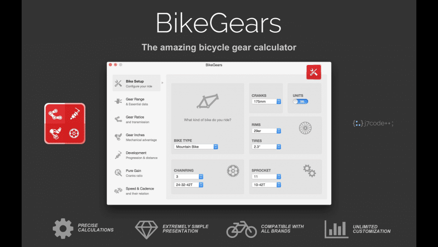 BikeGears for Mac - review, screenshots