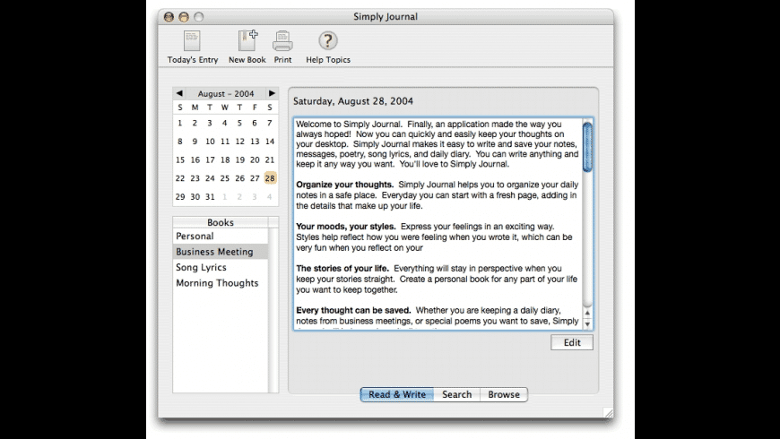 Simply Journal for Mac - review, screenshots
