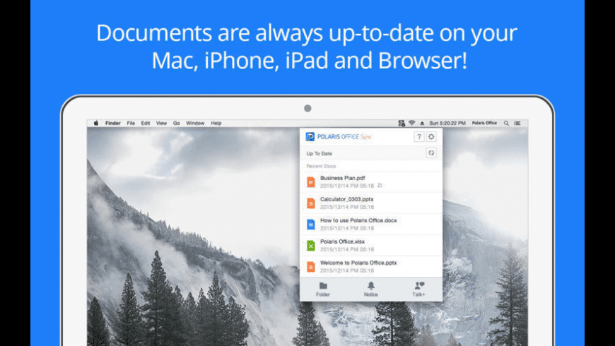 Polaris Office Sync for Mac - review, screenshots