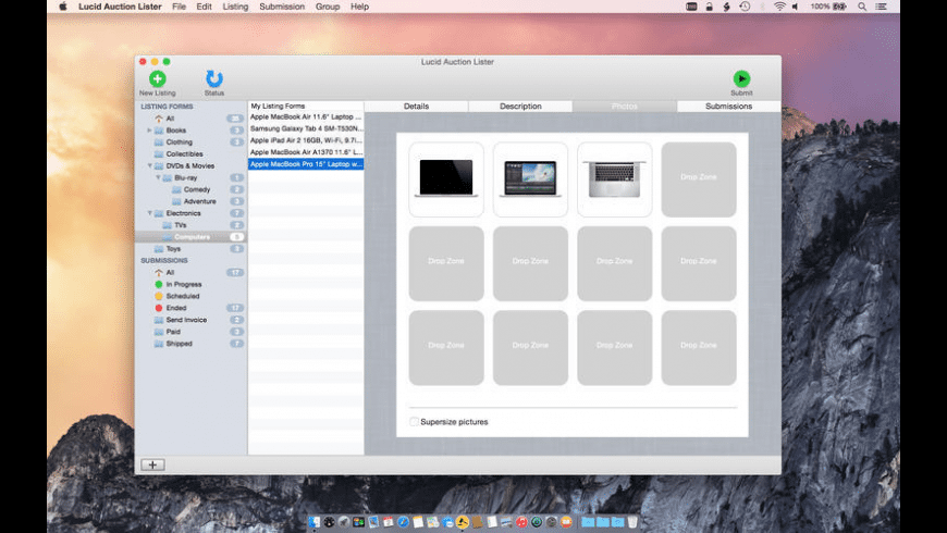 Lucid Auction Lister for Mac - review, screenshots