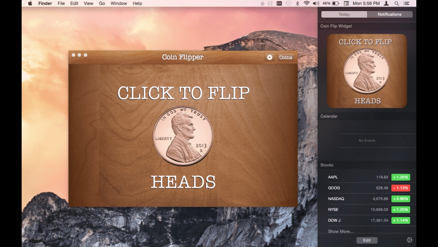 Coin Flip for Mac - review, screenshots