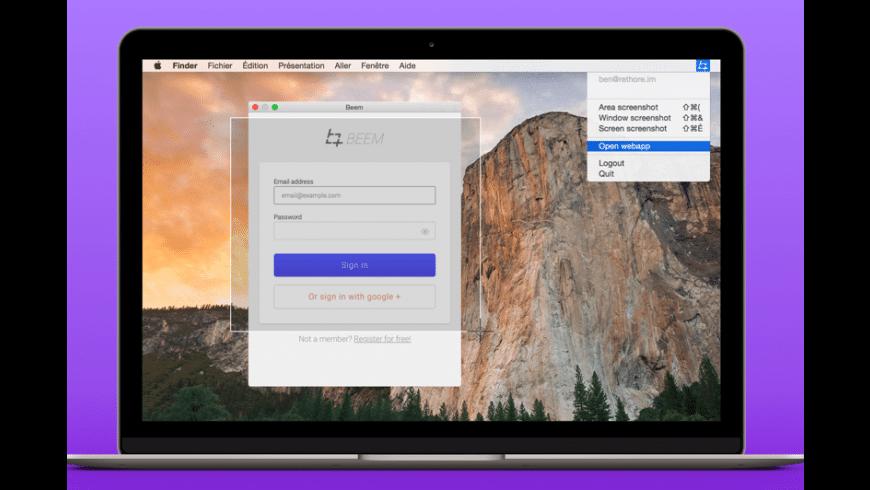 Beem for Mac - review, screenshots