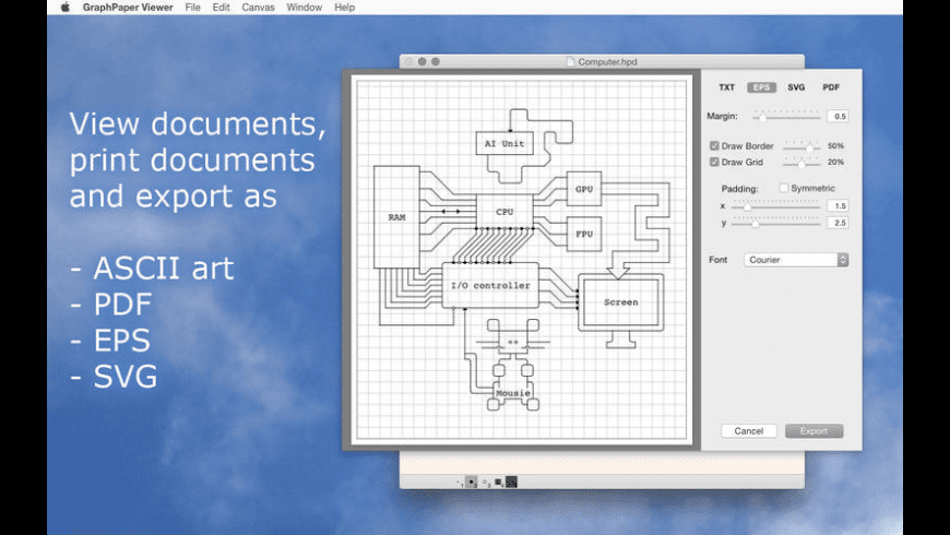 Graph Paper Viewer for Mac - review, screenshots