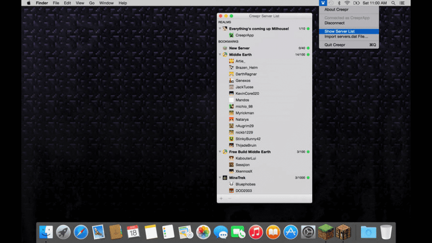 Creepr for Mac - review, screenshots