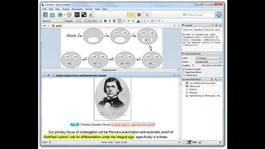 Scrivener (Windows) for Mac - review, screenshots