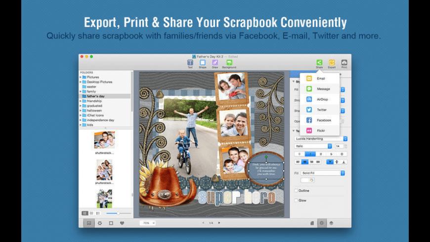 Scrapbook Crafter for Mac - review, screenshots