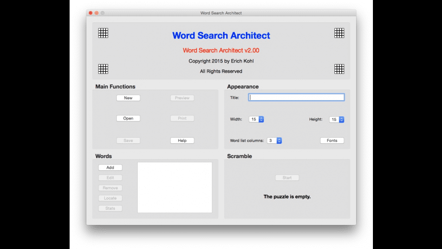 Word Search Architect for Mac - review, screenshots