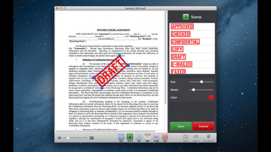 Sign It for Mac - review, screenshots